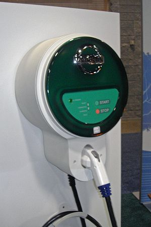English: Electric charging unit for the Nissan...
