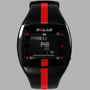 The slek looking, mid-range Polar F6 heart rate monitor