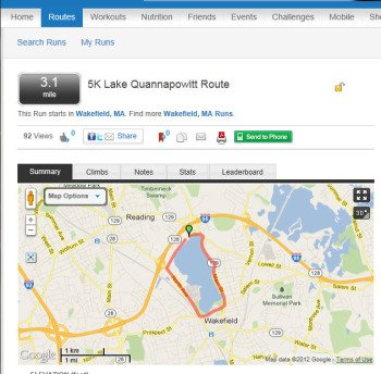 MapMyRun screenshot