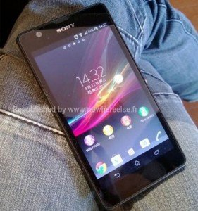 Sony Xperia 2013 leaked picture