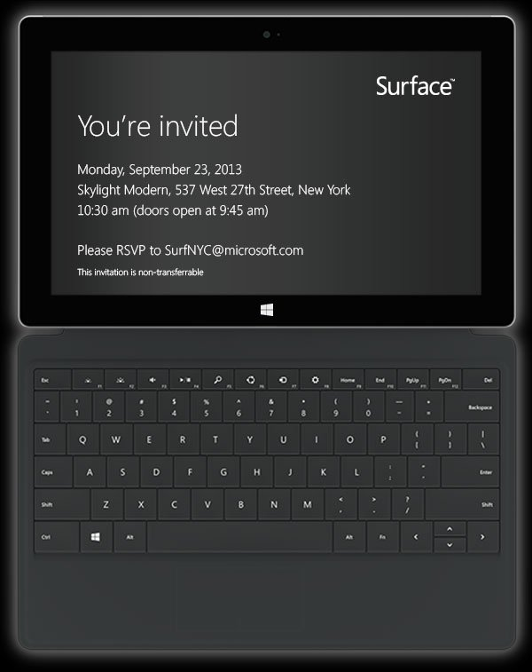 surface 2 invite