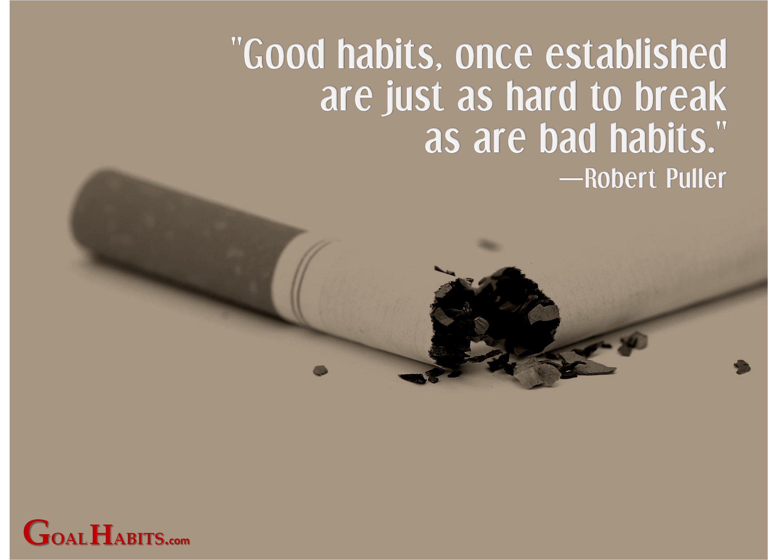 smoking habit the good and bad A habit can be many things, some good, some not so good everyone has habits that they would like to change and maybe improve upon i believe the majority of habits i have are good ones but some are not these bad habits are the ones i will talk about smoking is a bad habit that is not only harmful.